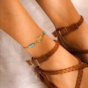 Brandy Melville Jewelry - {2/$25}  turtle beaded anklet bracelet